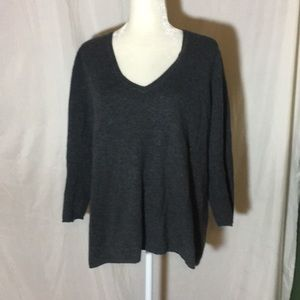 Lord and Taylor Gray 100% Cashmere Sweater
